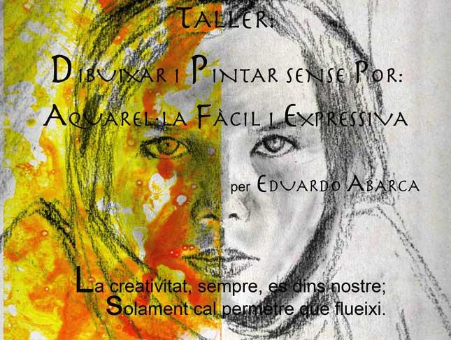imatge del cartell d'acuarel·la fàcil i expressiva