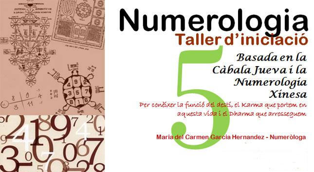 imatge del taller de numerologia